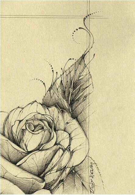 17 best images about roses on pinterest stand strong for Amazing drawings of roses