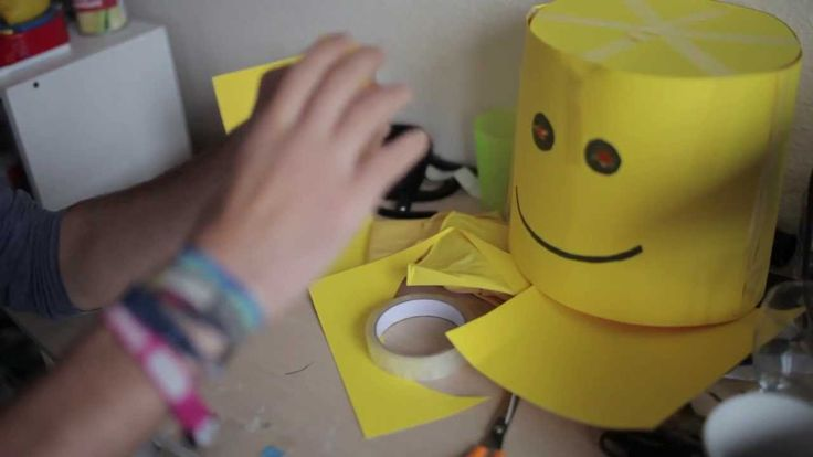 How to make a LEGO MAN costume   For the cheap and not so crafty.