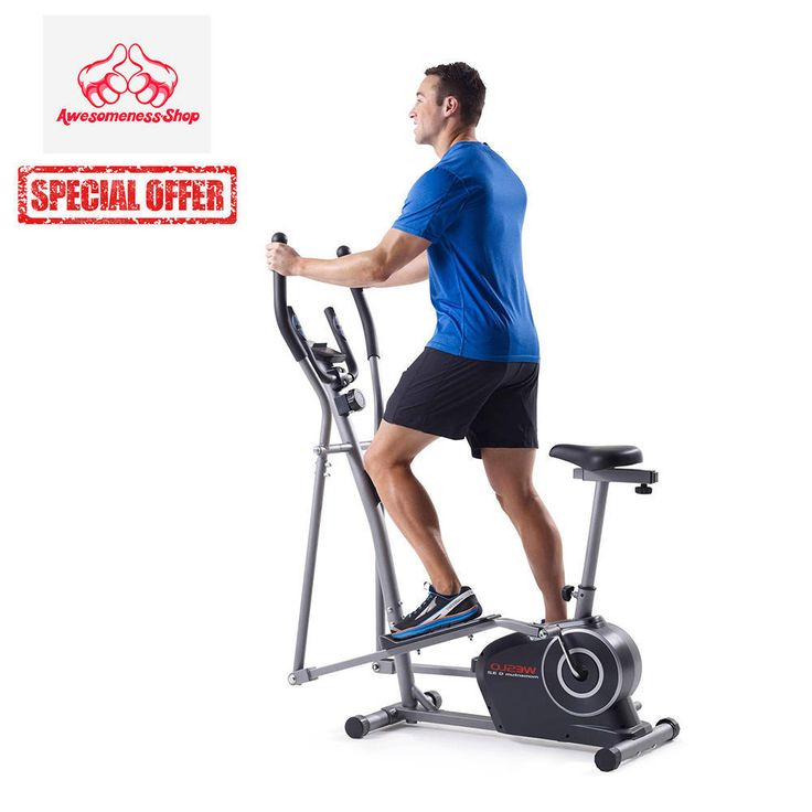 Elliptical Sit Down Bike: Elliptical Bike Exercise Recumbent Trainer Workout Best