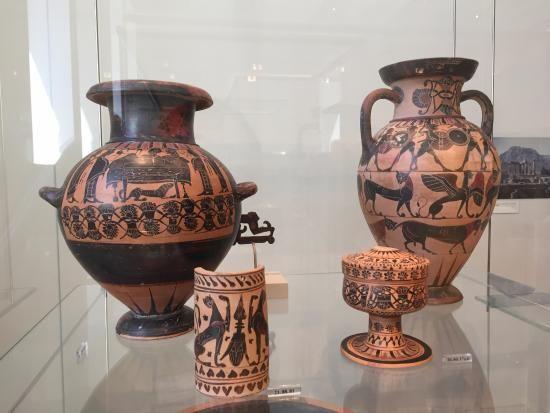 Peças da Grécia antiga em argila