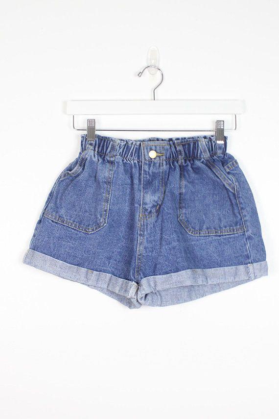 vintage denim short  80s jeans  vintage shorts