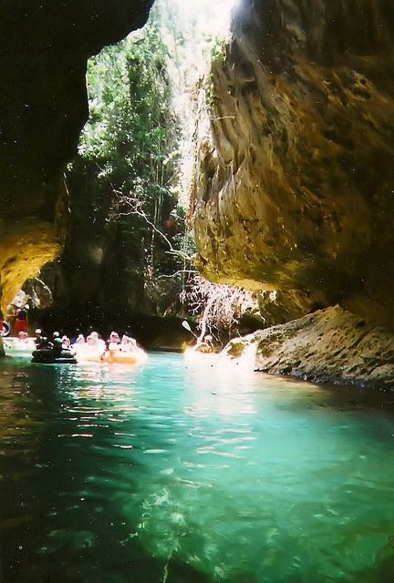 Belize cave tubing.