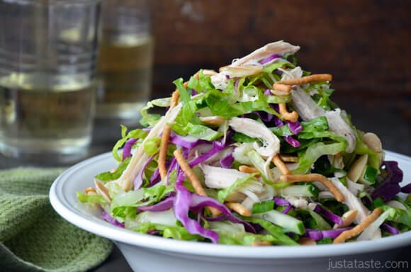Chinese Chicken Salad with Sesame Dressing
