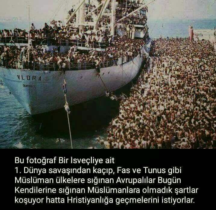During 1st and 2nd world war Europeans were immigrating to the Morrocco, Tunusia,Ottoman Empire, later Turkiye but now they are richer but they don't wany any immigrants who has to escape from the war.