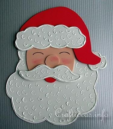 Christmas Crafts for Kids - Tree Ornaments - Fun Foam Santa Claus