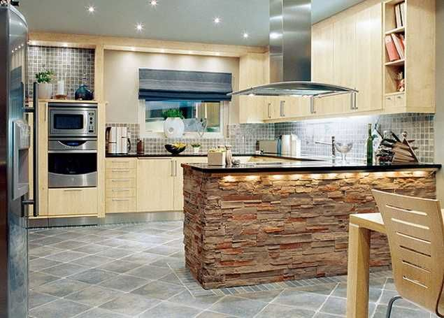 Contemporary Kitchen Design Trends 2014 Unite New Materials Natural Kitchen Colors And