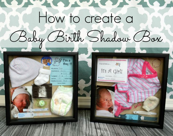 How to create adorable baby birth shadow boxes! So easy and beautiful to display