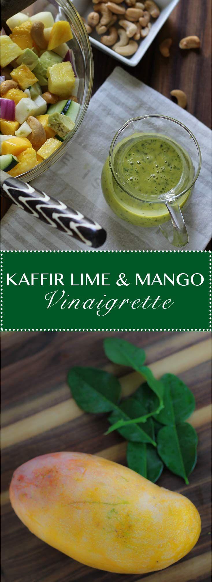 Kaffir Lime & Mango Vinaigrette.  Adds exotic lime flavor to tropical salads, noodle bowls and fresh rolls.