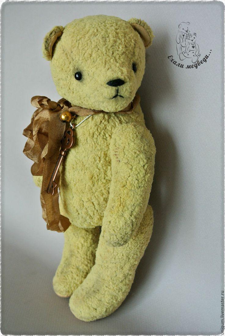 Купить Мишка Тедди Кейси - желтый, мишка винтажный, мишка тедди винтаж, винтажный стиль