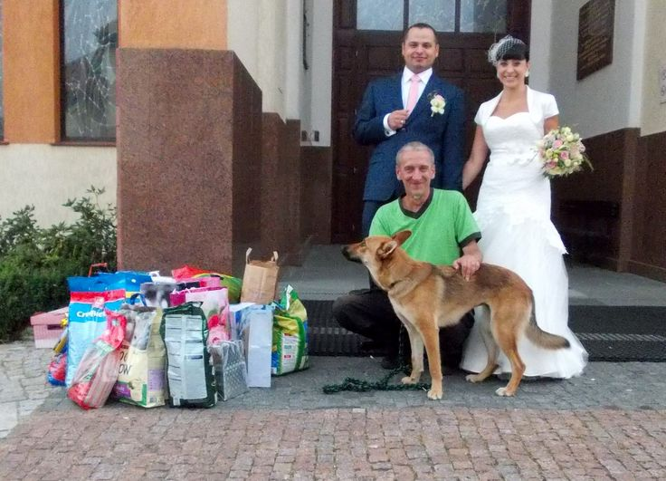 Karma zamiast kwiatów - nowa inicjatywa nowożeńców :) #psy #adopcje #schronisko #pomoc