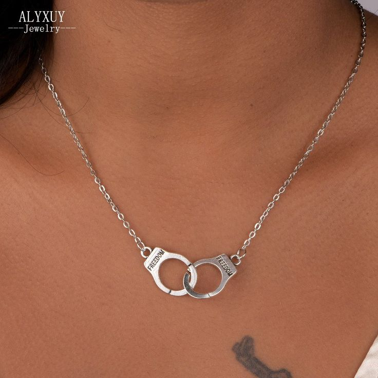 New Fashion jewelry Handcuffs choker pendant necklace Women/Girl lover Valentine's Day gifts N1577 www.peoplebazar.net    #peoplebazar