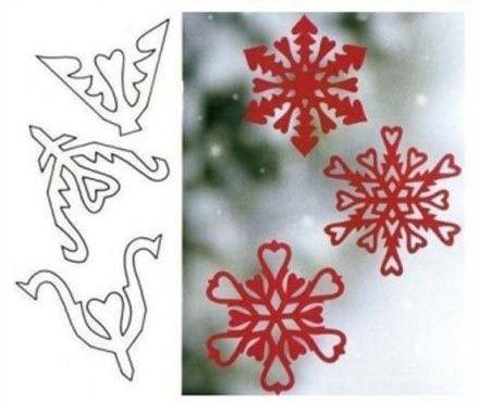 Шаблоны для бумажных снежинок