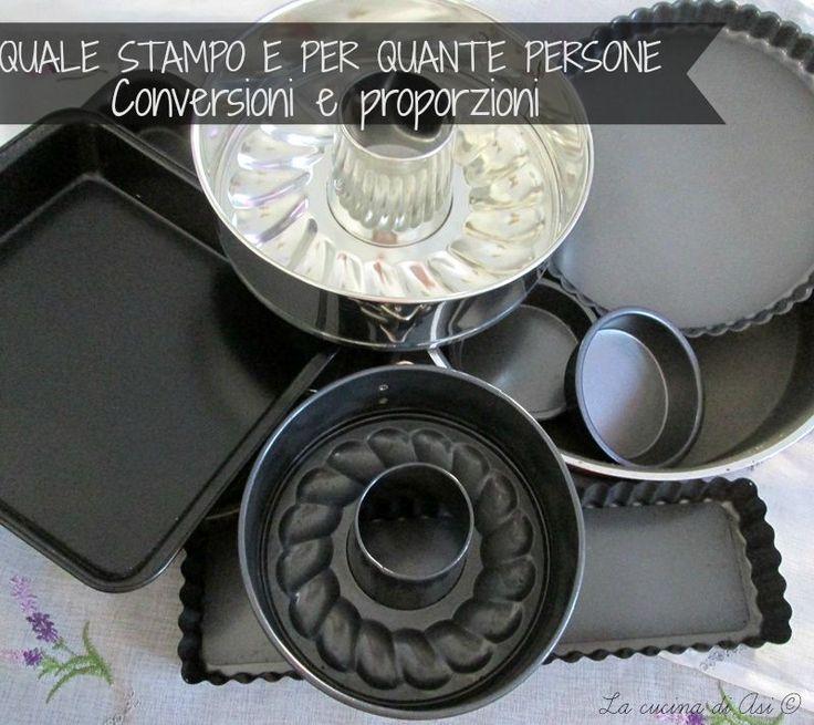 conversione  di stampi torte e porzioni La cucina di ASI BLOG ©
