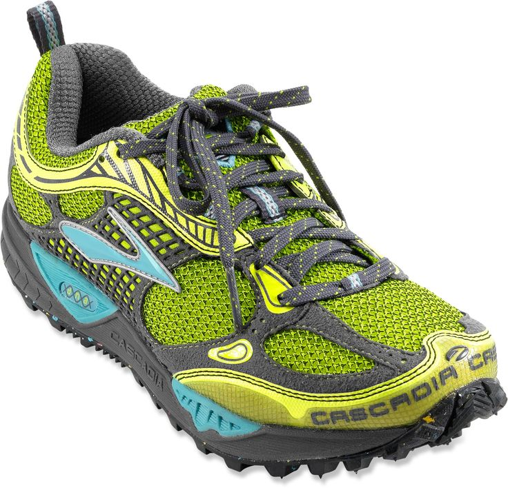 i love my Brooks for trail running; vegan and the best dang trail shoes i've ever owned. perfect stability and grip for jumping logs, straddling ditches, running creek beds, granite, gravel, you name it... these puppies can take it.  i ran in my last pair for 4 years!!