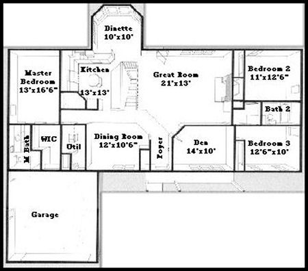 Country House Plan 5543br additionally Print this plan moreover Ac modates A Narrow Lot 88029sh furthermore Load Bearing Wall additionally Cost To Build A Home In Los Angeles. on floor plans split entry