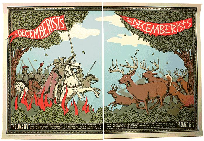 The Decemberists: Decemberist, Concerts Poster, Portland Extraordinnair, Je T Aimee, Mike King, Band Poster, Albums Covers, Gig Poster, Poster Quadro-Negro