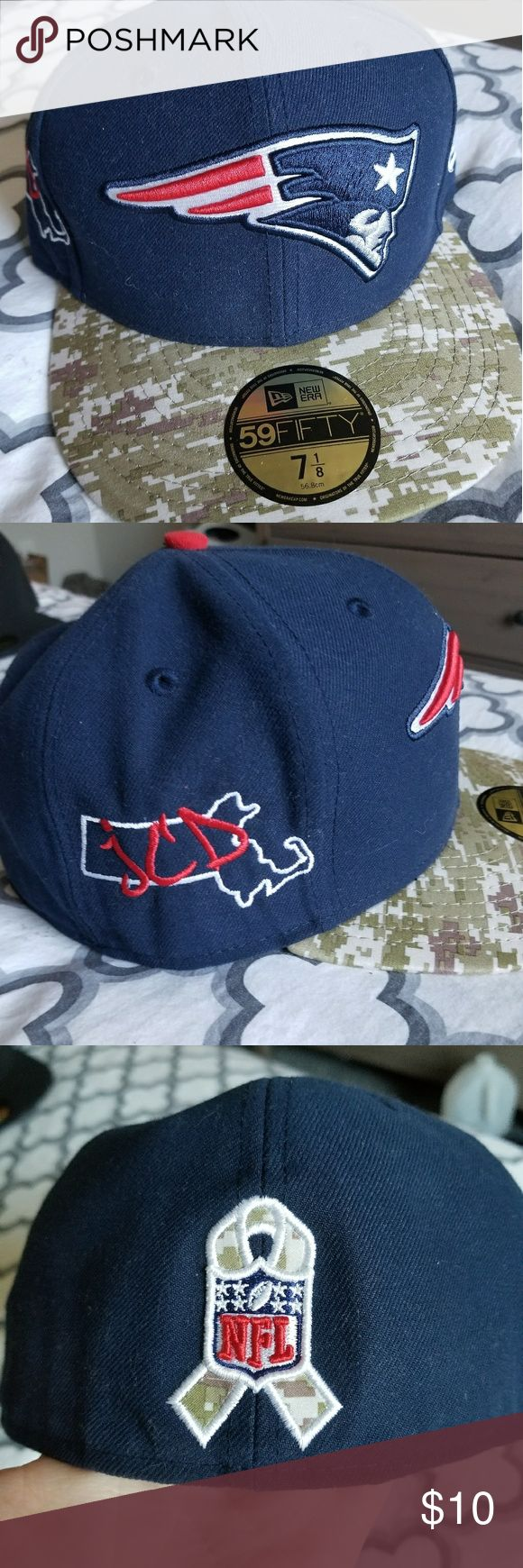 New England New Era Patriots fitted hat New Era New England Patriots fitted Salute to Service hat New Era Accessories Hats