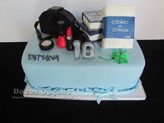Doces Opções: Bolo para o 18º aniversário da Tatiana