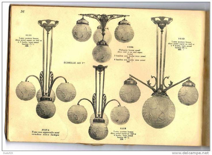 CATALOGUE 1931 ART DECO APPAREILS D'ECLAIRAGE LUSTRES VASQUES En BRONZE & FER FORGE-PATE DE VERRE MULLER - Ets PETITOT - Home Decoration