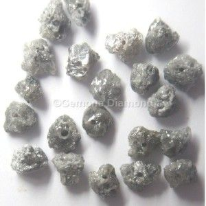LOT OF 2.00 CT natural gray rough uncut loose diamond beads FOR NECKLACE THAT WILL MAKE YOU LOOK REALLY GORGEOUS at wholesale price.