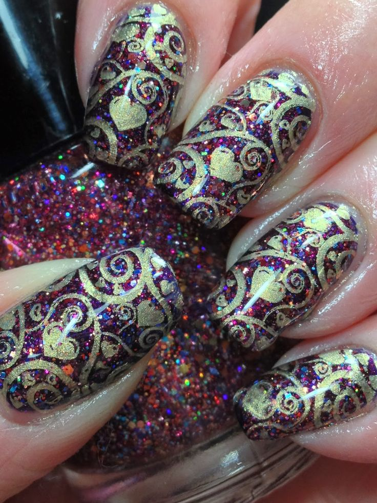 Canadian Nail Fanatic: Antique Looking Valentine #nail #nails #nailart