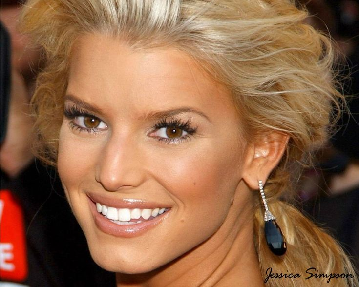 jessica simpson face | The Jessicas: Great examples of individual lashes- achieve this look ...