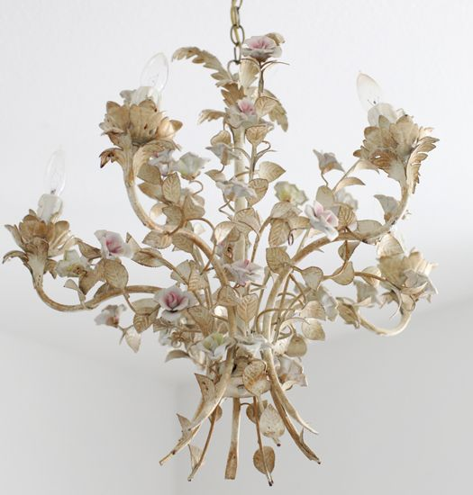 Antique French Tole Chandelier Just For Sue