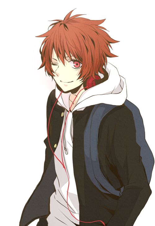 red hair and eyes anime