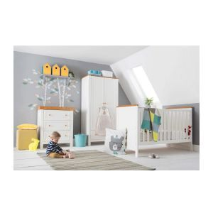 Kiddicare Olivia Nursery Furniture Cot Bed Roomset Antique White And Oak