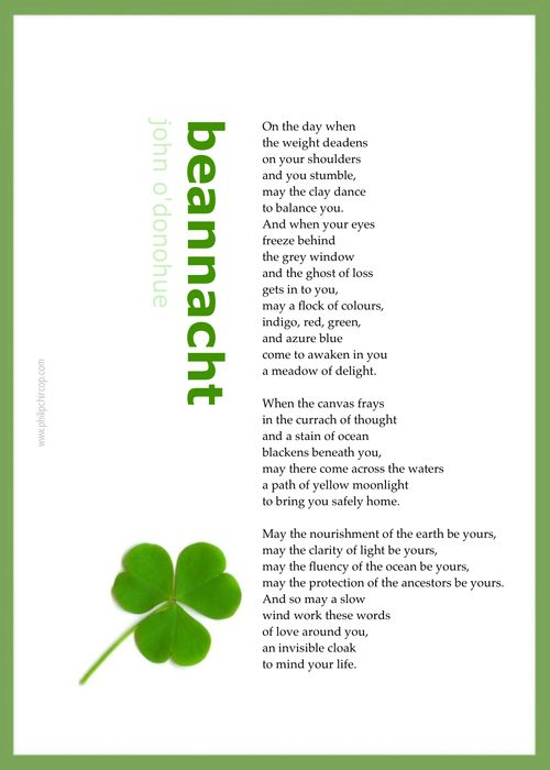 BEANNACHT Beannacht is the Gaelic word for Blessing. From ...