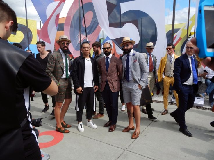 Short suits are always a match for Pitti #mensfashion #style #summer #suits #pittiuomo