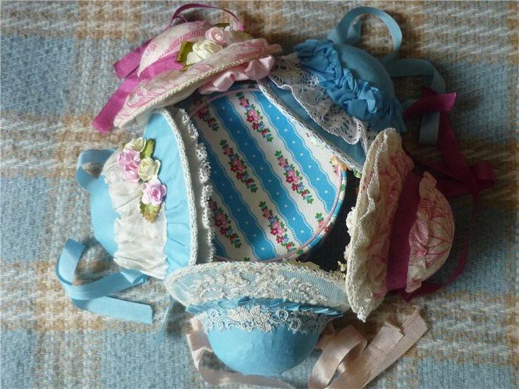 Боннеты для маленьких антикварных кукол и реплик / Антикварные куклы, реплики / Шопик. Продать купить куклу / Бэйбики. Куклы фото. Одежда для кукол