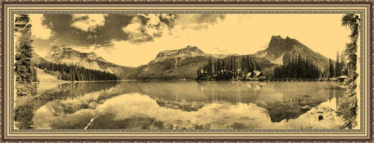 Old Emerald Lake Pano by *Joe-Lynn-Design