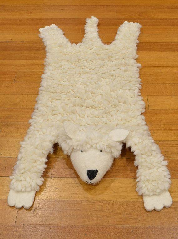 Kids Rug Animal Children Skin Character Sheep Hunters