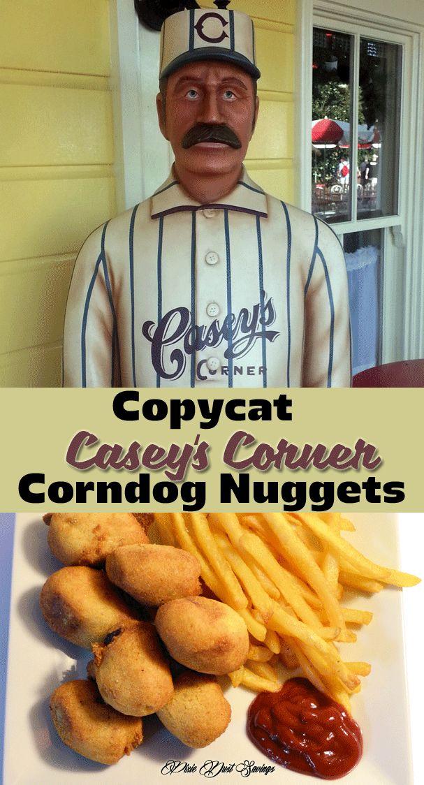 Copycat Casey's Corner Corn Dog Nuggets Recipe from Walt Disney World. Tastes so much like the ones from the park, I swear I am on Main Street!