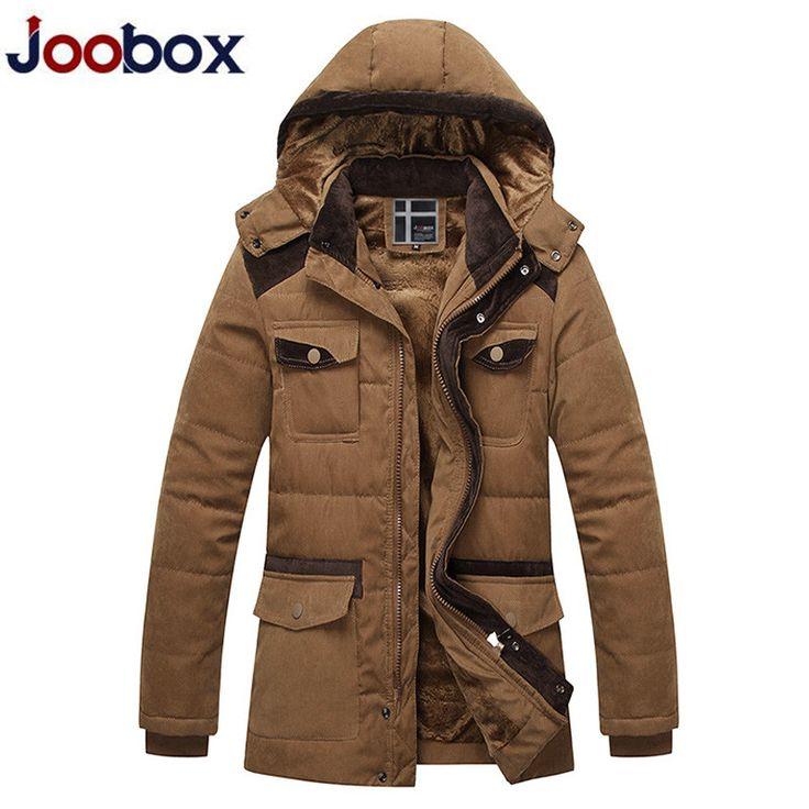 JOOBOX Winter Parka Jacket Men Hooded Warm Thicken Coats Mens Cotton Multi-pocket Jackets Men's Windbreaker Casaco Masculino F3 #Affiliate