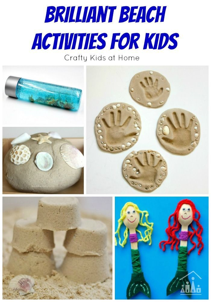 Brilliant Beach Activities for Kids. Includes ideas for arts and crafts, summer sensory play, plus games and activities.