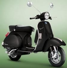 The new Vespa PX in matt black...ghetto chic yet stylish