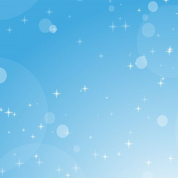 Color Abstract Background Of Blue Sky With Bokeh And Stars