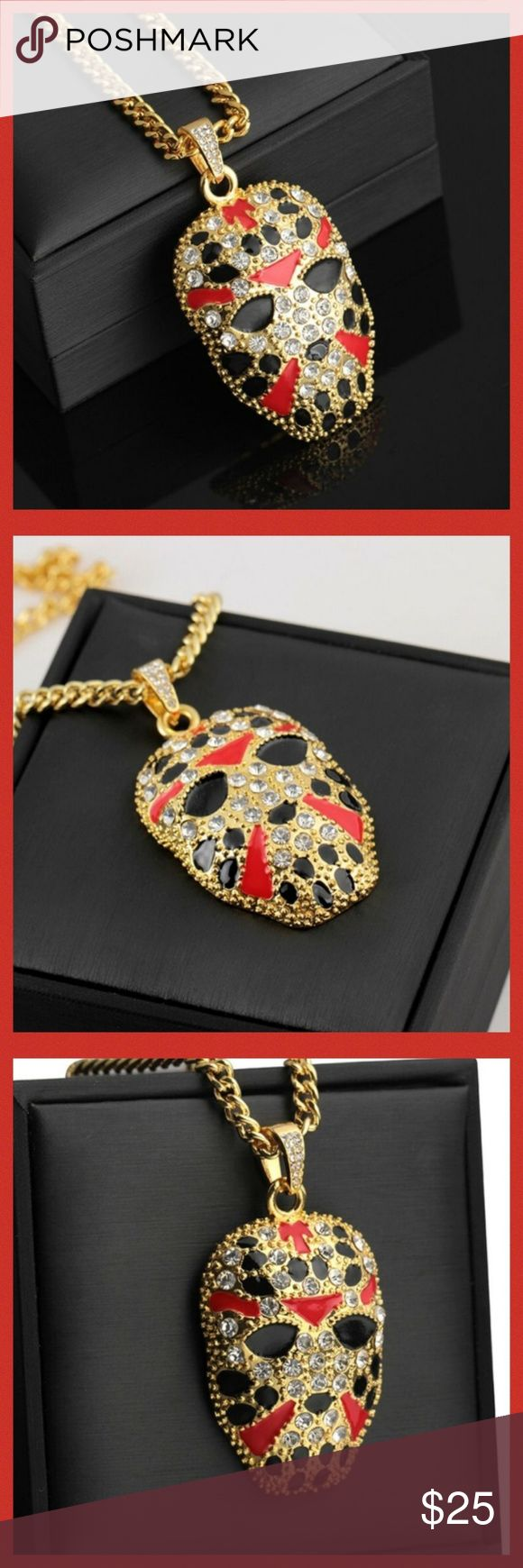 LAST ONE* Jason Hockey Mask Pendant w/Chain Boutique in
