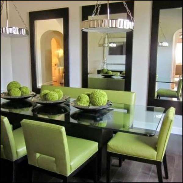 Decorating Ideas For Dining Room With No Windows Mirror Dining Room Large Dining Room Dining Room Design