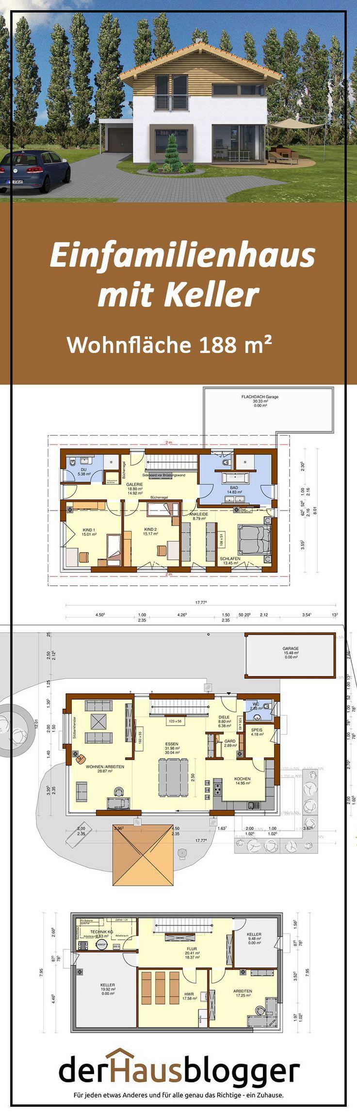 Dieses Satteldachhaus mit knapp 188 m² Wohnfläch…