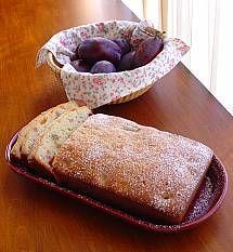 Italian Prune Plum Nut Bread | DianasDesserts.com Substitute GF flours