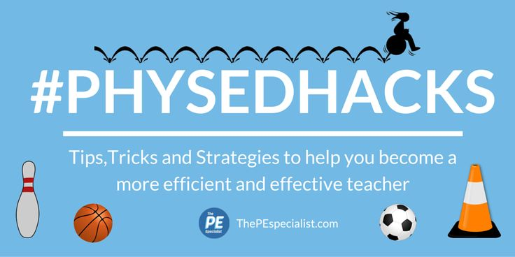 Phys Ed Hacks - Awesome ideas for Physical Education.  Helping PE Teachers become more effective and efficient teachers.