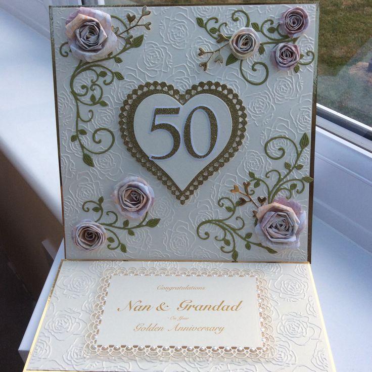 Golden Wedding Anniversary Easel Card 105 best