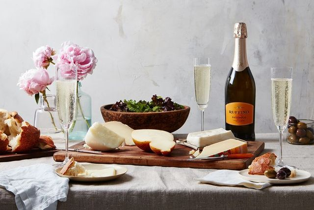We partnered with Ruffino Wines to share five Italian cheeses you should be stocking and cooking with, ones that you might enjoy outside with a little bubbly, like their Ruffino Prosecco. It's normal