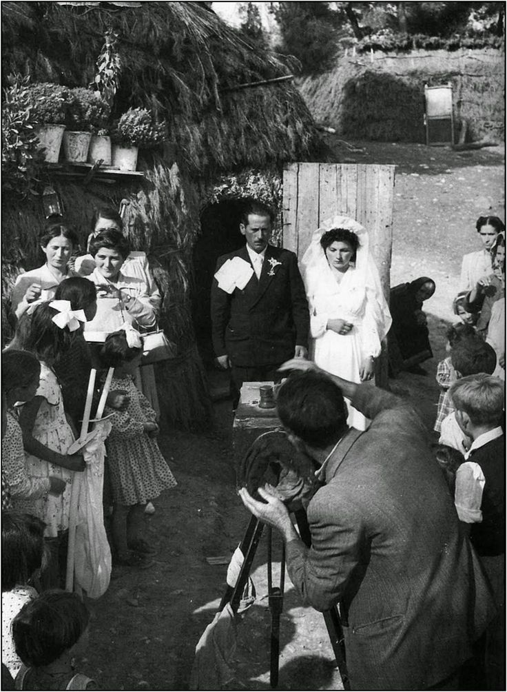 Rural wedding. Bogiati (today named Agios Stephanos), Attica, Greece, 1950. Δημήτρης Χαρισιάδης