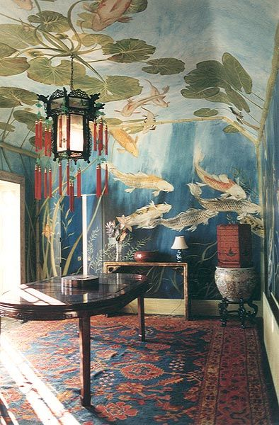 The Chinoiserie murals of Michael Dillon   . . . .   ღTrish W ~ http://www.pinterest.com/trishw/  . . . .    #bohemian #interior #mytumblr