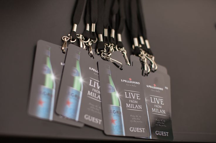 """The guests' passes for the S.Pellegrino """"Live From Milan"""" event."""