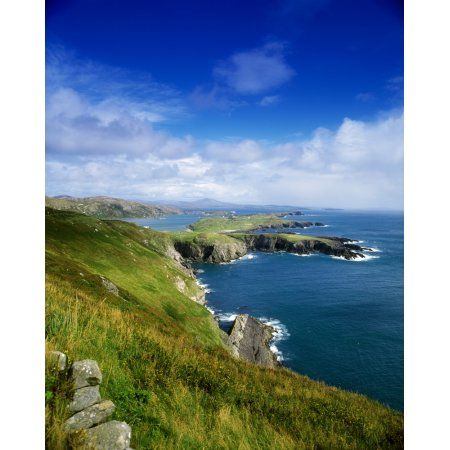 Crookhaven Co Cork Ireland Most Southwestern Tip Of Ireland Canvas Art - The Irish Image Collection Design Pics (13 x 17)